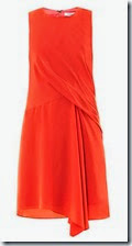 Elizabeth and James Orange Draped Silk Dress