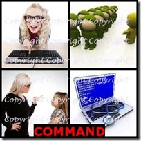 COMMAND- 4 Pics 1 Word Answers 3 Letters