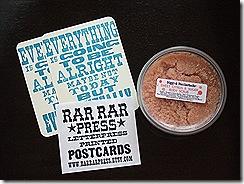 biggsfeatherbelle scrub and rar rar press postcards 006