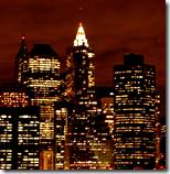 [New York skyline at night]
