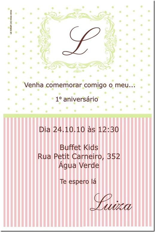 Convite Final luiza