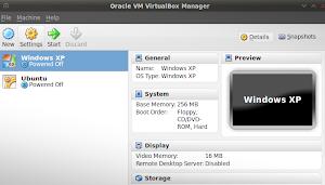 Windows in Oracle Virtualbox su Linux