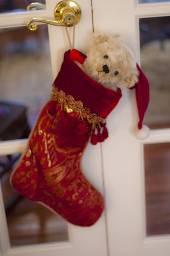 Christmas Teddy Bear in Stocking