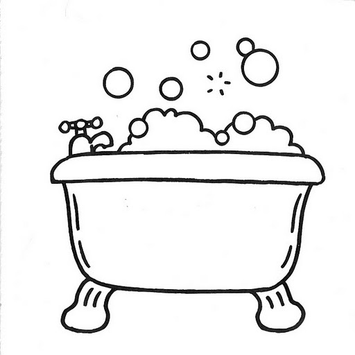 coloring pages bathtubs - photo#14