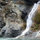 Waterfall on Shotover River - Skippers Canyon, New Zealand