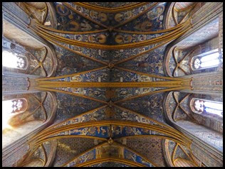 a cathedral ceiling