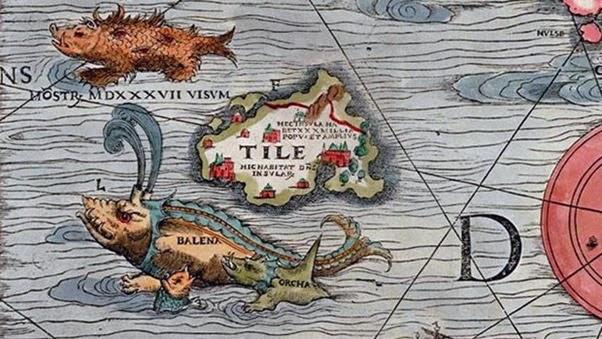Thule em um mapa de 1539
