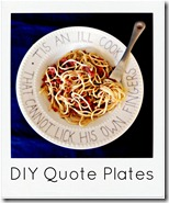 quote plate with spaghetti