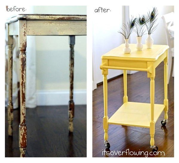 table into kitchen cart