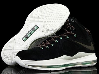 nike lebron 10 sportswear black mint nubuck 6 02 Nike Sportswears LeBron X EXT Black / Mint (607078 001)