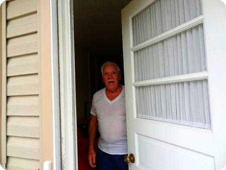 dad opening door