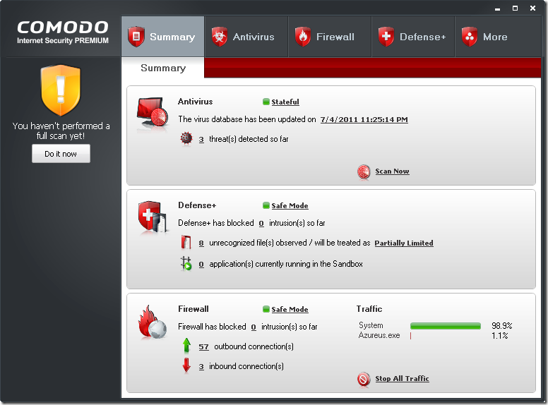 comodo internet security 1