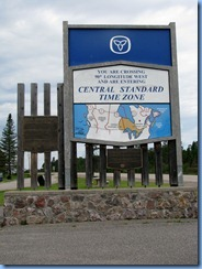 8016 Ontario Trans-Canada Highway 17 - Central Time Zone sign