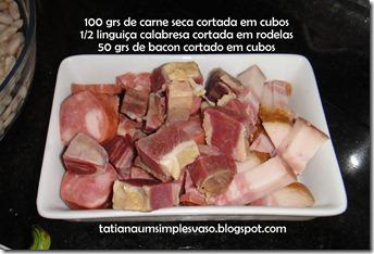 Carne seca, linguiça e bacon