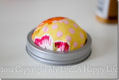 No Sew Pin Cushion - Mason Jar Pin Cushion - My Life...A Happy Life (5 of 7)