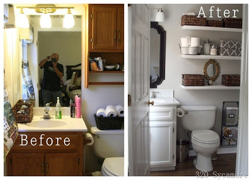 Amazing  master bath before and after thumb