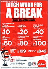 AirAsia Ditch Work for a Break Promotion 2013 Malaysia Deals Offer Shopping EverydayOnSales