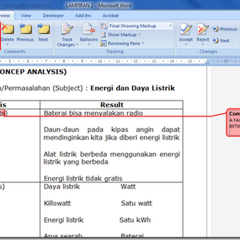 Cara Menambah Komentar pada File Ms Word