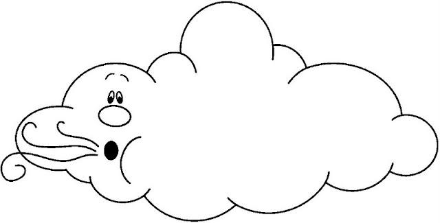 Nubes de viento para colorear - Imagenes de nubes infantiles ...