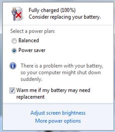 tanda silang pada batre laptop