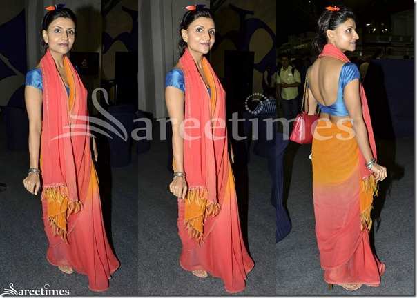 Pink_Orange_Dual_Color_Saree