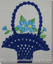 cozinha pano louça cesta azul pormenor