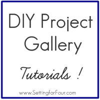 DIY Project Gallery & Tutorials from Setting for Four