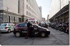 Spari al tribunale di Milano
