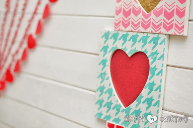 valentine stenciled frame