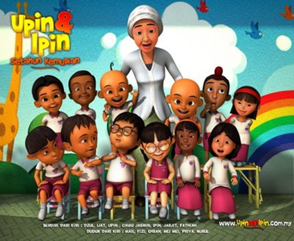 wallpaper upin dan ipin