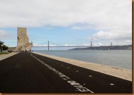 Lisbon, monument bridge christ