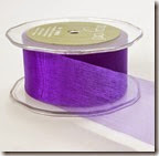 1inch sheer royal purple