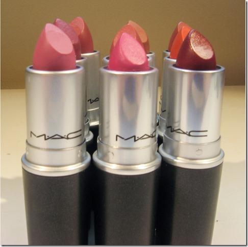 lipsticks close up