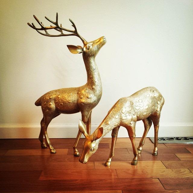 thriftscorethursday louloumint9260 brass deer