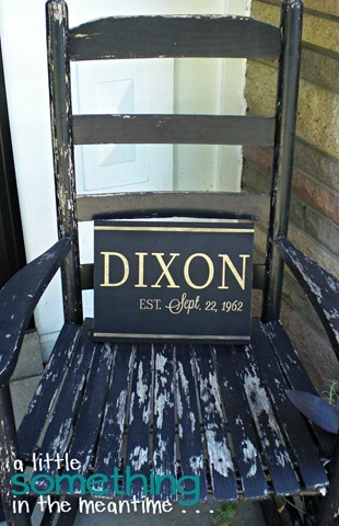 Dixon Sign Rocking Chair Vertical
