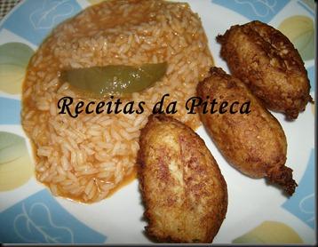 Pastéis de peixe- arroz de tomate
