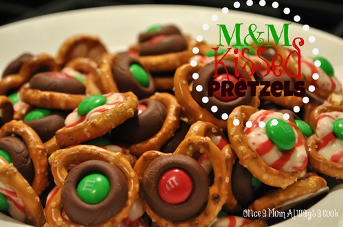 M&M Kissed Pretzels 1