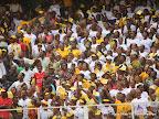 – Quelques membres du PPRD, lors de la clôture du 2ème congrès de leur parti politique le 21/08/2011 au stade des martyrs à Kinshasa. Radio Okapi/ John Bompengo