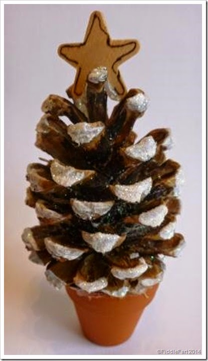 fir cone christmas tree