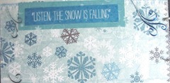 Winter Fun photo journal listen the snow is falling pg 6