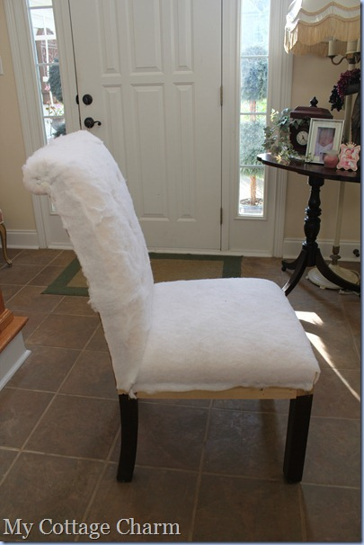 My Cottage Charm: How to Diamond Tuft and Upholster a Chair
