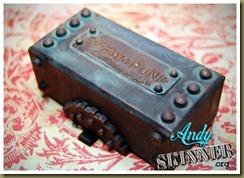 copper steampunk cufflink box