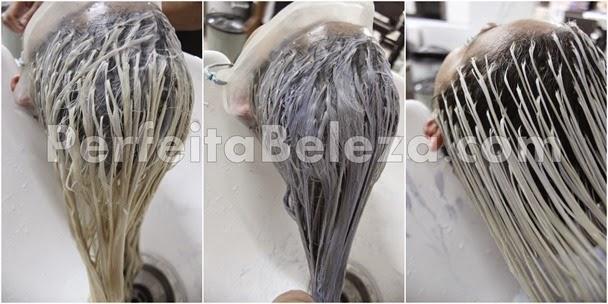 tonalização e matização em cabelos loiros
