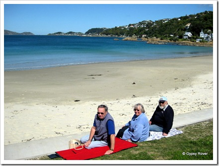 Picnic time at Scorching Bay.