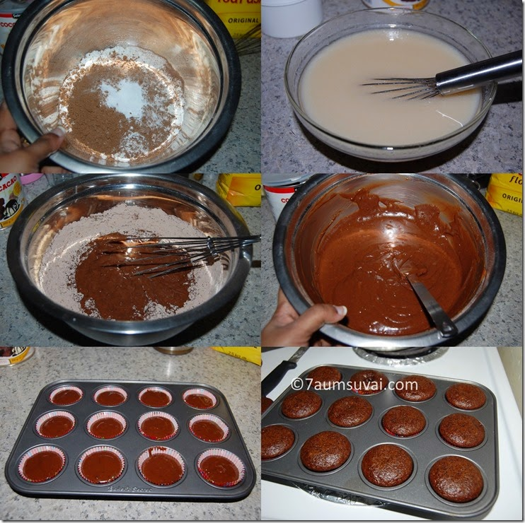 Chocolate cupcake process