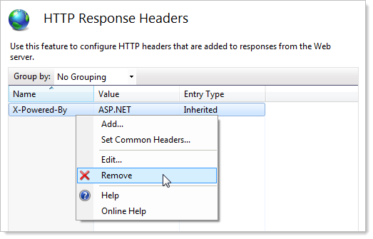 Removing the &quot;X-Powered-By&quot; header in IIS