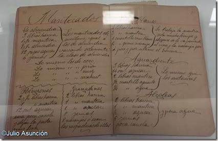 Recetario de la madre de Azorín - Museo Dámaso Navarro - Petrer