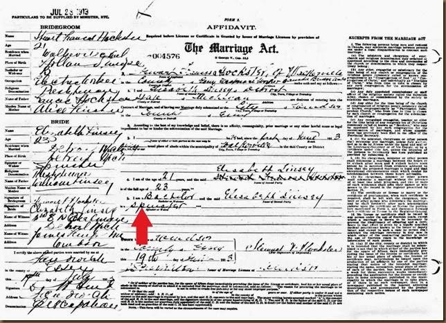 LINDSAY_Bessie to Stewart HOCKSTER_1913_Canada
