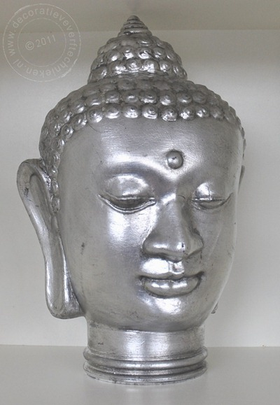 Boeddha gepatineerd zilver