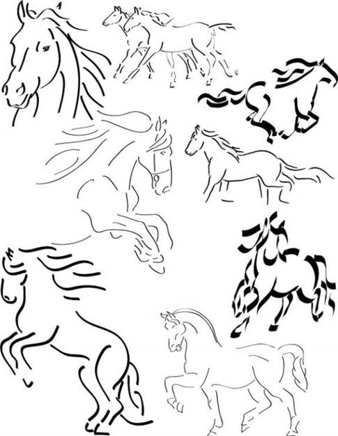 Pinceles de caballo